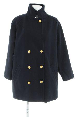 Ganni Cappotto in lana blu scuro stile casual