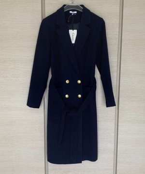 Ganni Wool Coat dark blue