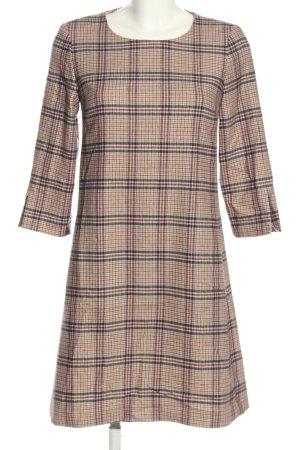 Gant A-Linien Kleid schwarz-creme Karomuster Casual-Look