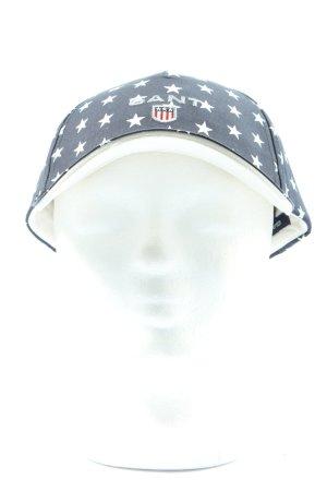 Gant Baseball Cap black-white allover print casual look