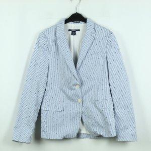 Gant Jersey blazer wit-staalblauw Katoen
