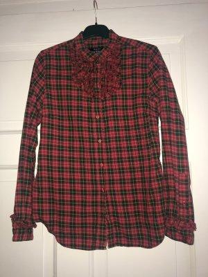 Gant Blusa a cuadros rojo oscuro-verde bosque