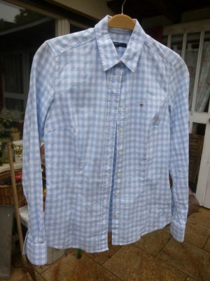 Gant Bluse Blau-Weiß Gr. 38