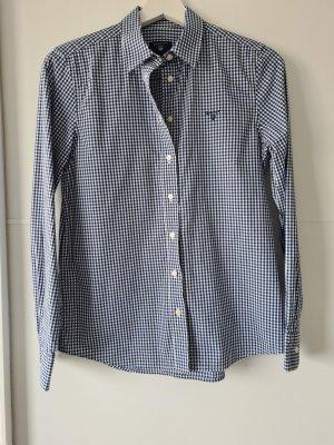 GANT Bluse, Hemd, Gr.34, kariert, blau, weiß