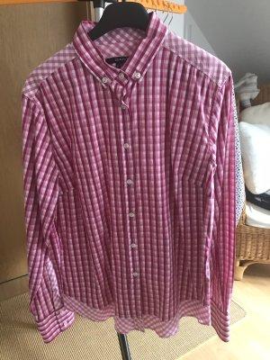 Gant Camicia a scacchi bianco-rosa