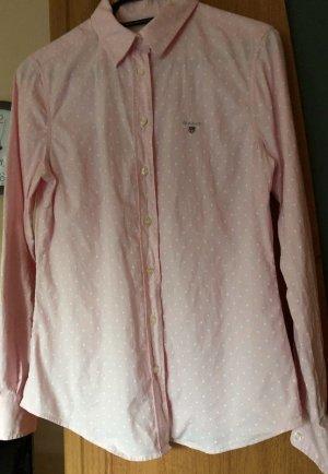 Gant Bluse rosa mit Punkten Gr. 36