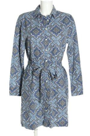 Gant Blusenkleid blau-weiß abstraktes Muster Casual-Look