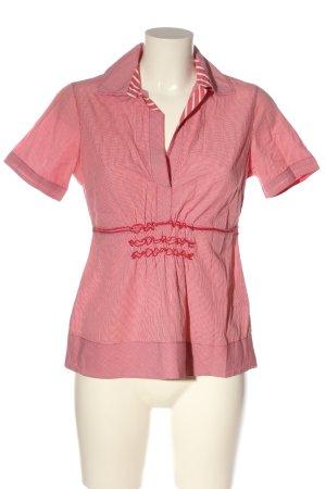 Gant Blusenkragen pink-weiß Karomuster Casual-Look