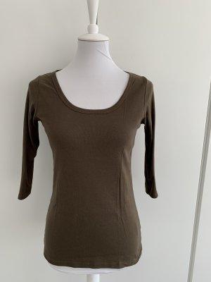 GANT braunes Shirt mit halblangem Arm