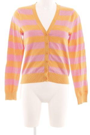 Gant Cardigan hellorange-pink Streifenmuster Casual-Look