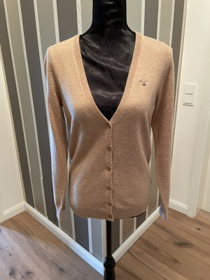 Gant Cardigan in maglia color cammello Lana