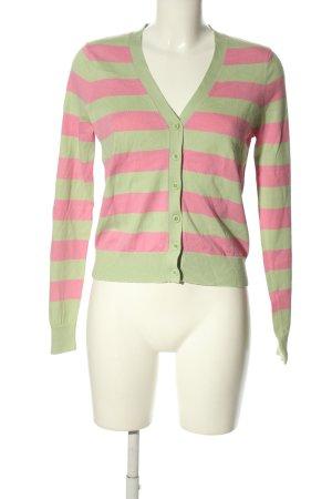 Gant Cardigan grün-pink Streifenmuster Casual-Look