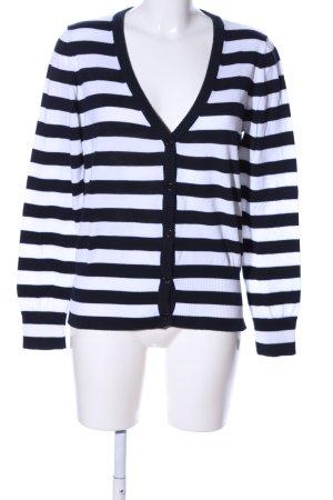 Gant Cardigan schwarz-weiß Allover-Druck Casual-Look