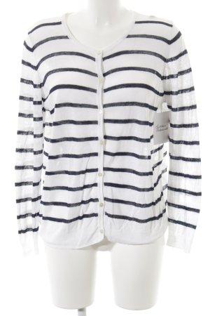 Gant Cardigan weiß-dunkelblau Streifenmuster Street-Fashion-Look