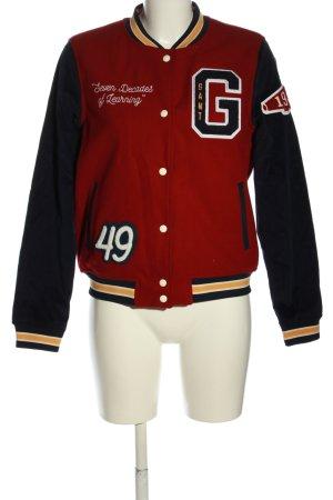Gant Chaqueta estilo universitario rojo-negro estampado temático