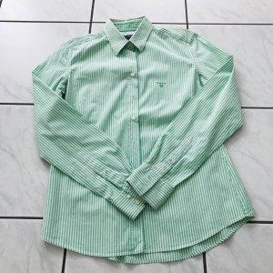 Gant Cols de blouses blanc-turquoise coton