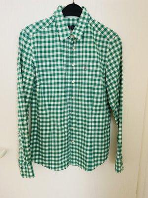 Gant Colletto camicia bianco-verde Cotone