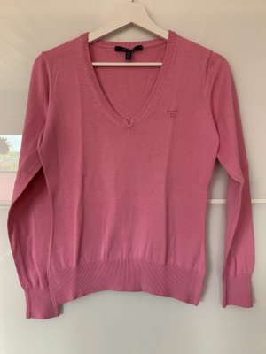 Gant Damen Pullover V-Ausschnitt Gr. S Rosa