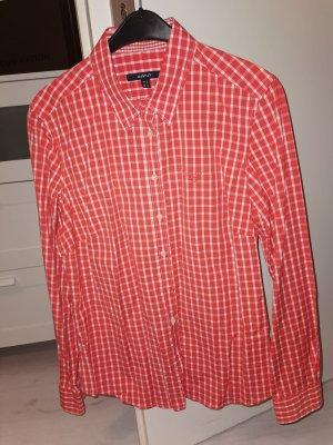 Gant Damenbluse 44 Wie Neu karriert in Orange rot weiss