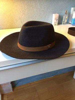 Gant Wollen hoed donkerblauw-bruin Wol