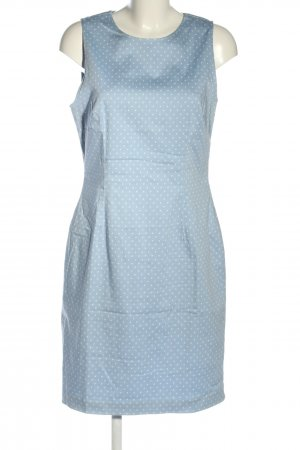 Gant Etuikleid blau-weiß Punktemuster Business-Look