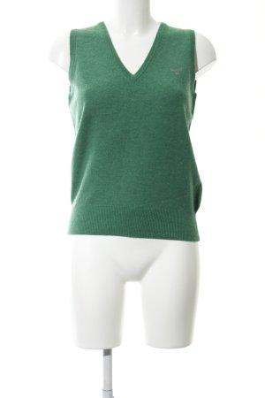 Gant Cárdigan de punto fino verde look casual