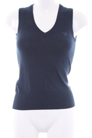 Gant Feinstrickpullunder blau schlichter Stil