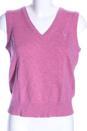 Gant Cárdigan de punto fino rosa moteado look casual