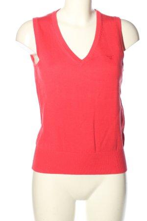Gant Fijn gebreide cardigan rood casual uitstraling