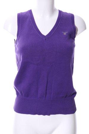 Gant Cardigan en maille fine violet style décontracté