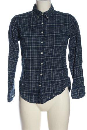 Gant Chemise en flanelle bleu-blanc imprimé allover style décontracté