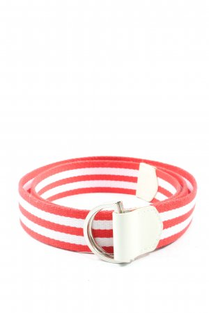 Gant Braided Belt white-red striped pattern casual look