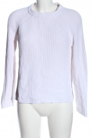 Gant Grobstrickpullover weiß Zopfmuster Casual-Look
