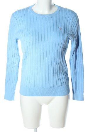 Gant Grobstrickpullover blau Streifenmuster Business-Look