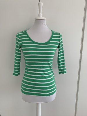 GANT grün/weiß gestreiftes Shirt mit halblangem Arm