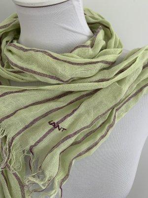 GANT Hellgrüner Sommer Schal mit zarten Streifen