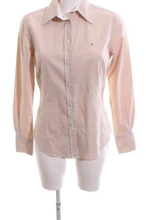 Gant Hemd-Bluse weiß-nude Karomuster Business-Look