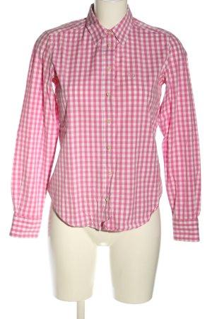 Gant Hemd-Bluse pink-weiß Karomuster Business-Look