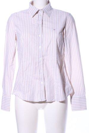 Gant Hemd-Bluse weiß-wollweiß Streifenmuster Business-Look