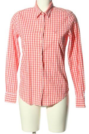 Gant Hemd-Bluse hellorange-weiß Allover-Druck Casual-Look