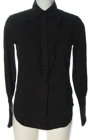 Gant Hemd-Bluse schwarz Streifenmuster Business-Look