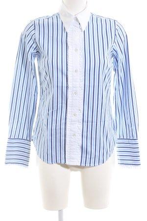Gant Hemd-Bluse blau Streifenmuster Business-Look 97% Baumwolle