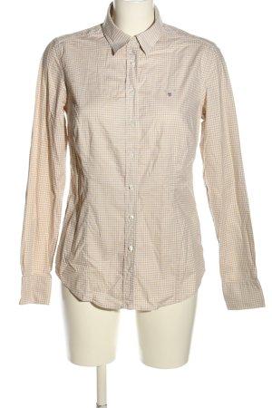 Gant Hemd-Bluse wollweiß Allover-Druck Business-Look