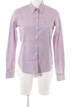 Gant Hemd-Bluse purpur-weiß Karomuster Business-Look