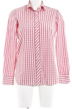 Gant Hemd-Bluse wollweiß-hellrot Karomuster Casual-Look