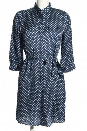 Gant Hemdblusenkleid schwarz-weiß Punktemuster Casual-Look
