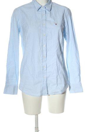 Gant Camicia da boscaiolo blu-bianco stampa integrale stile casual