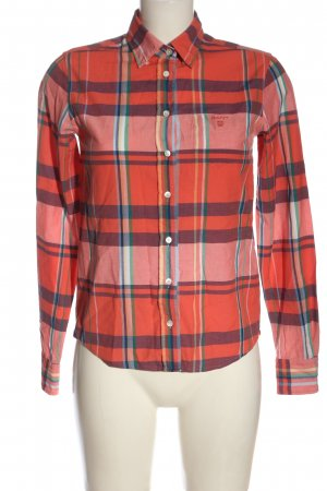 Gant Holzfällerhemd rot-pink Allover-Druck Casual-Look