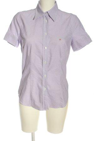Gant Holzfällerhemd lila-weiß Karomuster Casual-Look