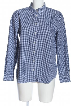 Gant Holzfällerhemd blau Allover-Druck Casual-Look